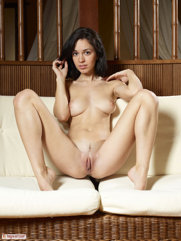 Nude cute girl legs apart opinion